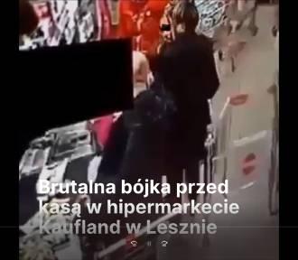 Pobicie w Kauflandzie w Lesznie, sprawca przesłuchany. Usłyszał trzy zarzuty [FILM]
