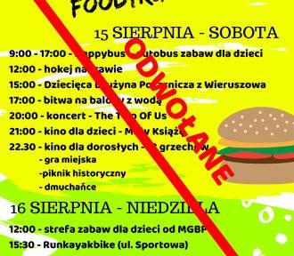 III Wieruszowski Zlot Foodtrucków odwołany. Nie będzie także Operetki na wynos