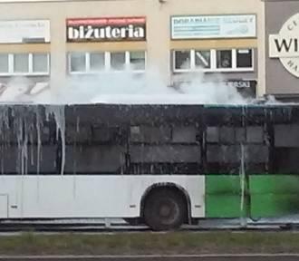 Pożar autobusu przy przystanku Pasterska w Szczecinie