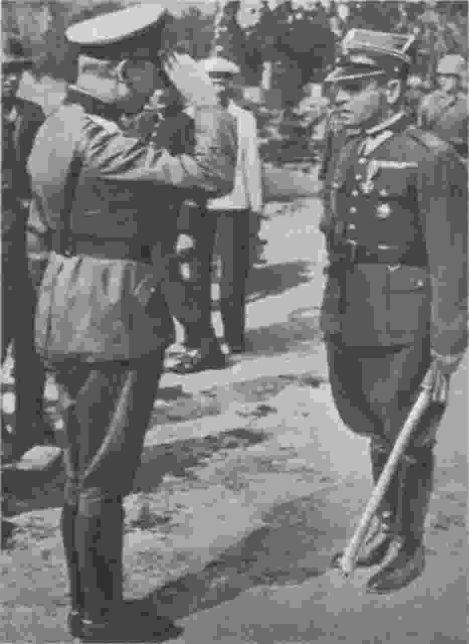 Moment kapitulacji placówki na Westerplatte