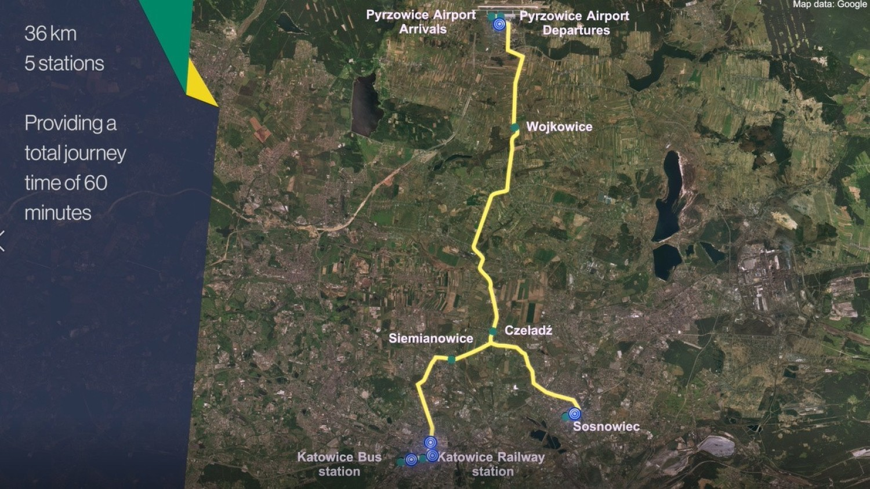 Kolej wisząca z Katowic i Sosnowca do Pyrzowic?