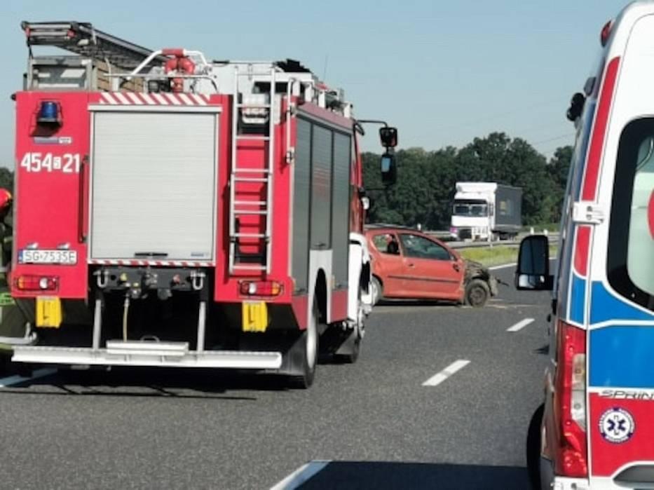 Wypadek na A4 w Rudzińcu