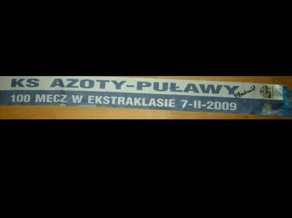 Szalik na jubileuszowy, setny mecz Azotów Puławy w ekstraklasie