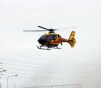 Pszczyna: wypadek w centrum miasta. Lądował śmigłowiec LPR