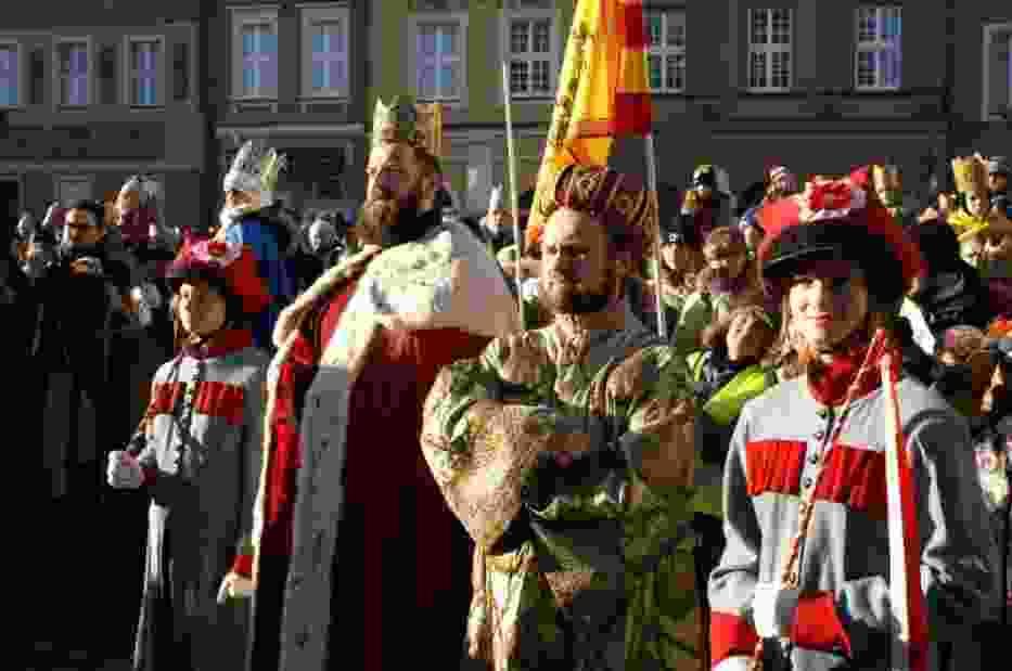 Orszak Trzech Króli na Starym Rynku w Poznaniu