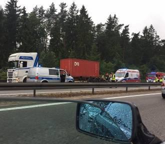 Wypadek na obwodnicy Trójmiasta [zdjęcia]