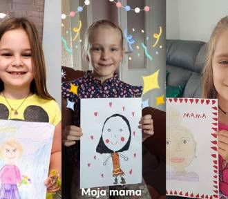 ZSP Przyprostynia: Portret mojej mamy - rysunki uczniów kl. I i II