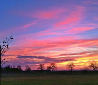 Przepiękne kolory nieba w Solankach