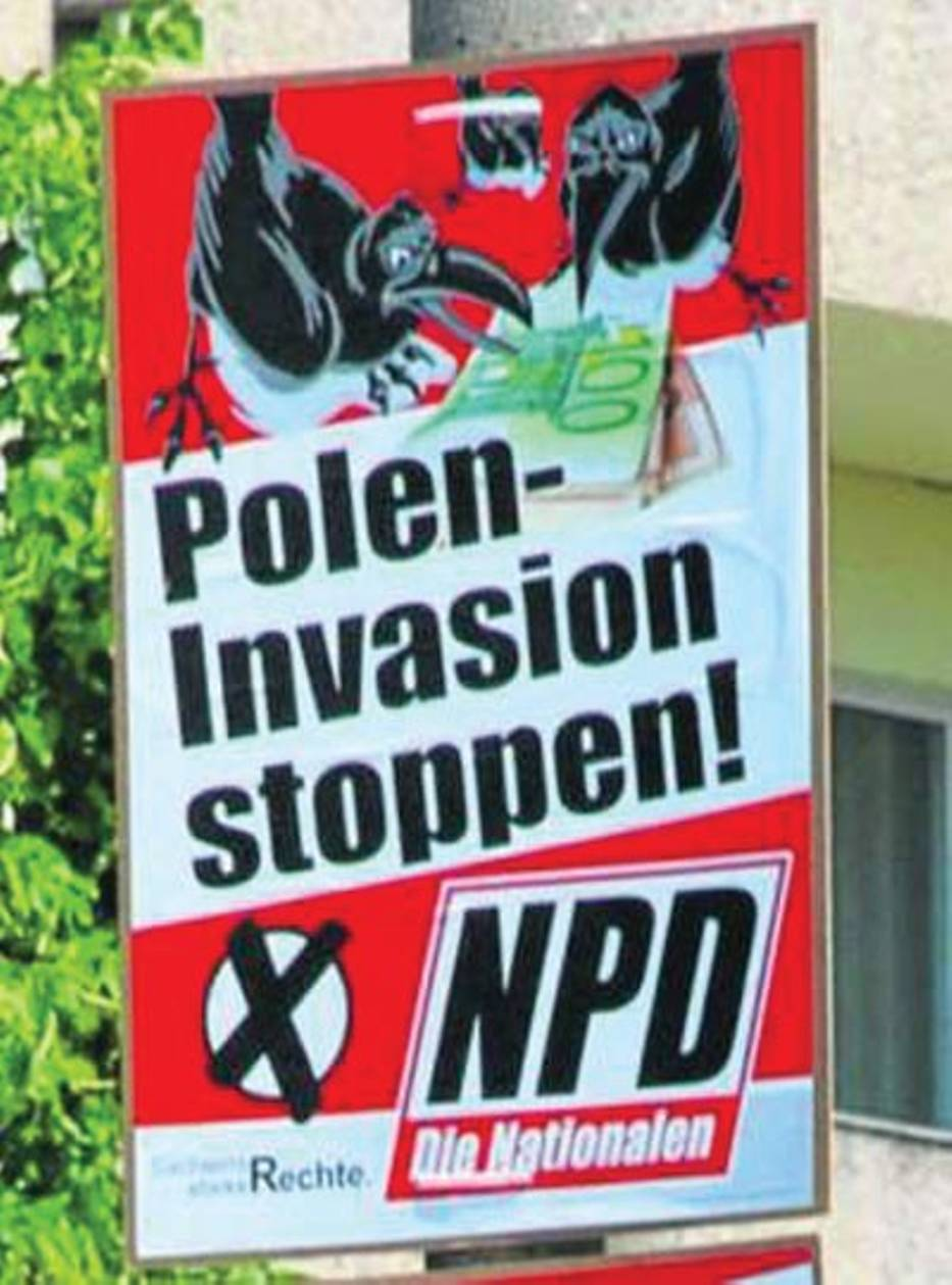 "Plakad NPD ""Polen invasion stopped"""