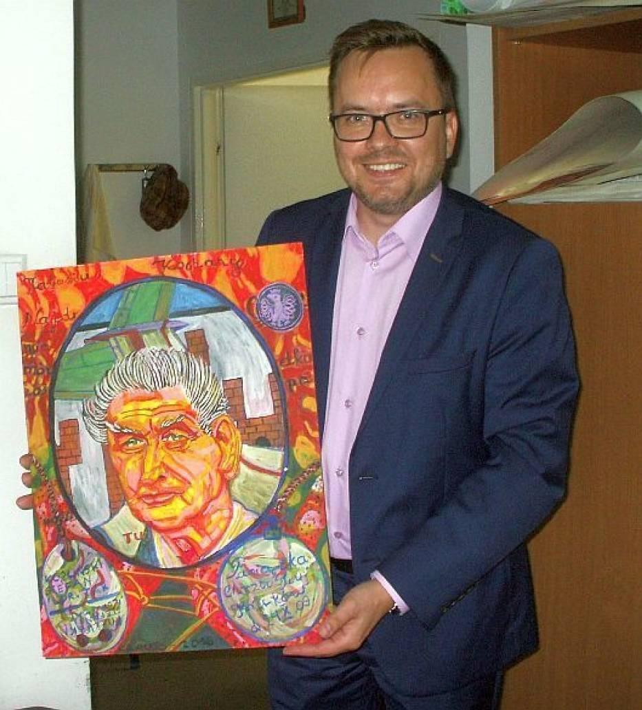 """Burmistrz """" Żychlina """"  w pracowni Marka Kraussa"""