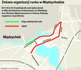 Most Międzychód - od piątku zamknięta ulica