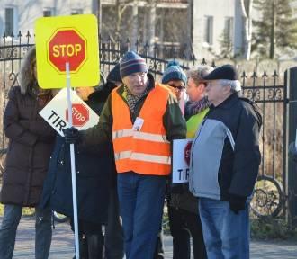 Protest na drodze krajowej nr 70 w Łowiczu [ZDJĘCIA]