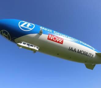 Zeppelin latał nad Śląskiem - robił wrażenie! Zobacz zdjęcia z lądowania...