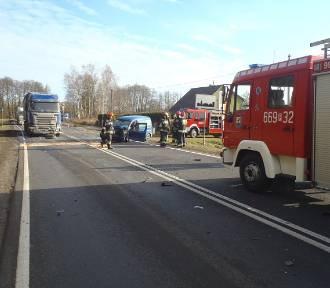 Kolejny wypadek na drodze krajowej DK 22 w okolicach Lędyczka