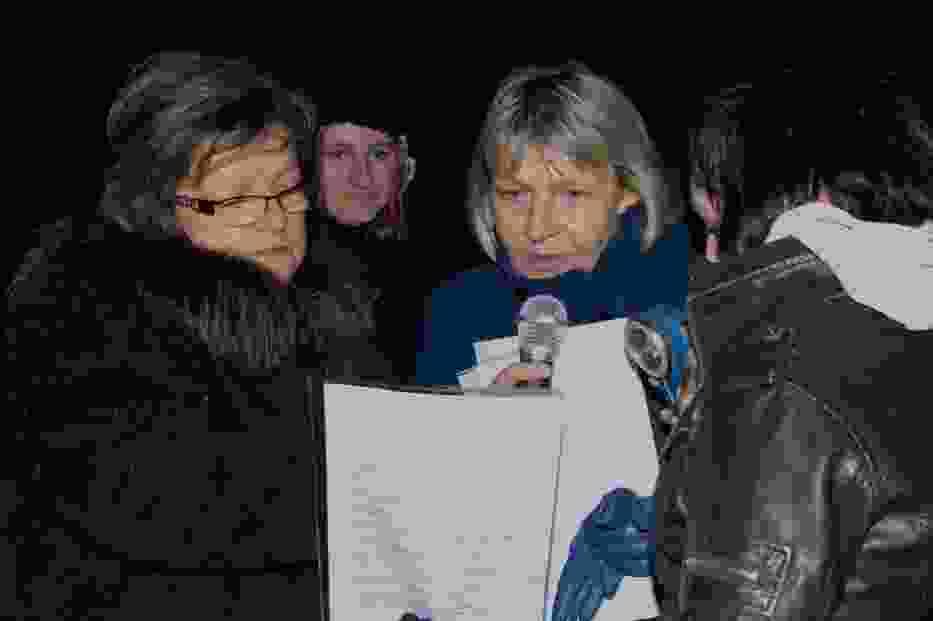 Pani Małgorzata Kocek i uczestnicy flash moba