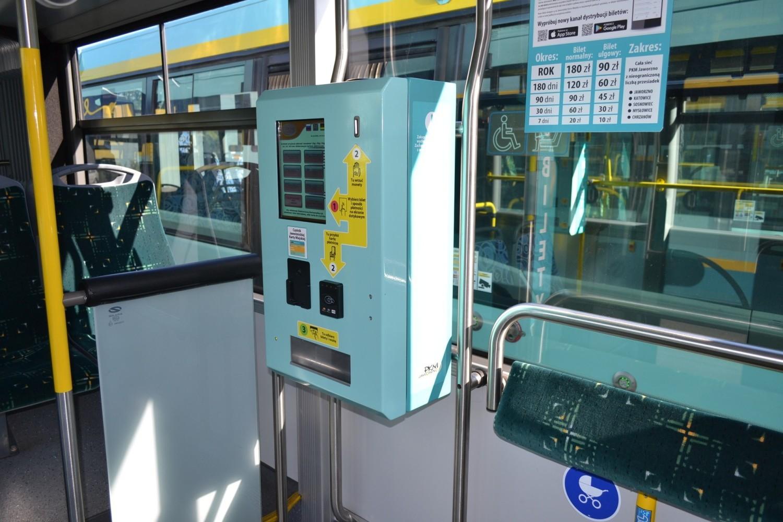 Biletomat w autobusie PKM Jaworzno