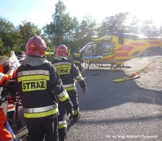 Mysłowice: wypadek motocyklisty na ul. Wielka Skotnica ZDJĘCIA