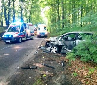 Gm. Malechowo. Zderzenie dwóch aut. Trzy osoby w szpitalach FOT - ustalenia policji