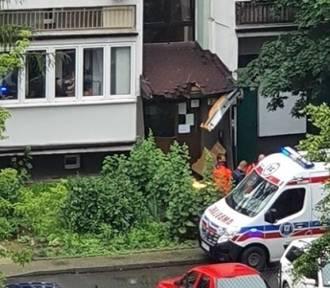 Śmiertelny wypadek w Krakowie. Mężczyzna spadł z 10. piętra