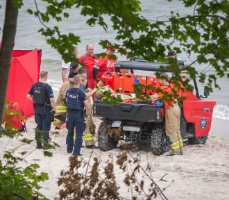 Tragedia w Rozewiu: utonęli ojciec z synem