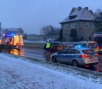 Wypadek na ulicy Duńskiej. Ulica jest częściowo zablokowana