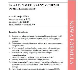Matura z chemii rozszerzonej. Arkusz CKE, odpowiedzi