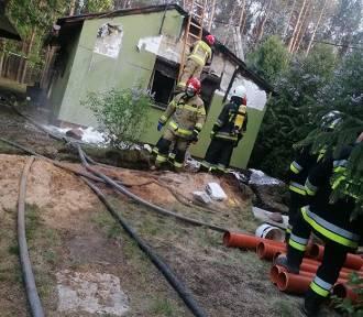 Pożar domku w Faustynowie. Dobrze, że tylko tak się skończyło [ZDJĘCIA]