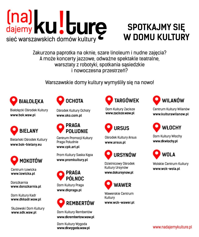 Sieć warszawskich domów kultury