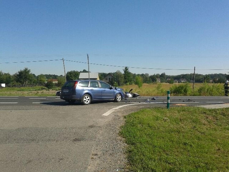 Wypadek w Ładnej koło Tarnowa