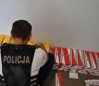 Policja w Kaliszu: 35-latek handlował nielegalnym spirytusem i papierosami. ZDJĘCIA