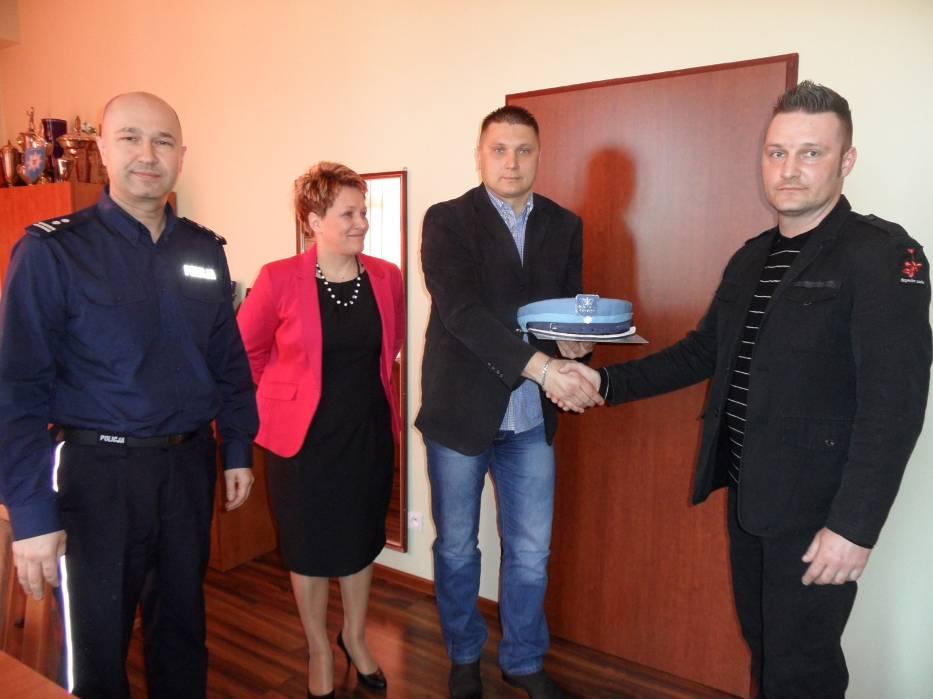Policja w Lublińcu gościła wdzięcznych obywateli