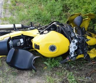 Wypadek w Zbychowie. Zginęła młoda kobieta, która jechała na motocyklu ZDJECIA