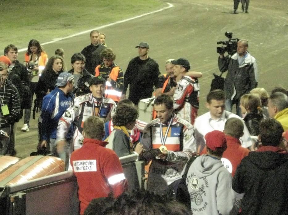 Radość polskich zawodników po zdobyciu mistrzostwa świata