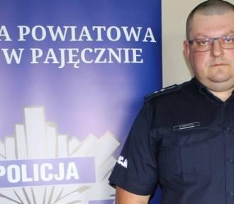 Rzecznik pajęczańskiej policji po służbie zatrzymał pijanego motorowerzystę