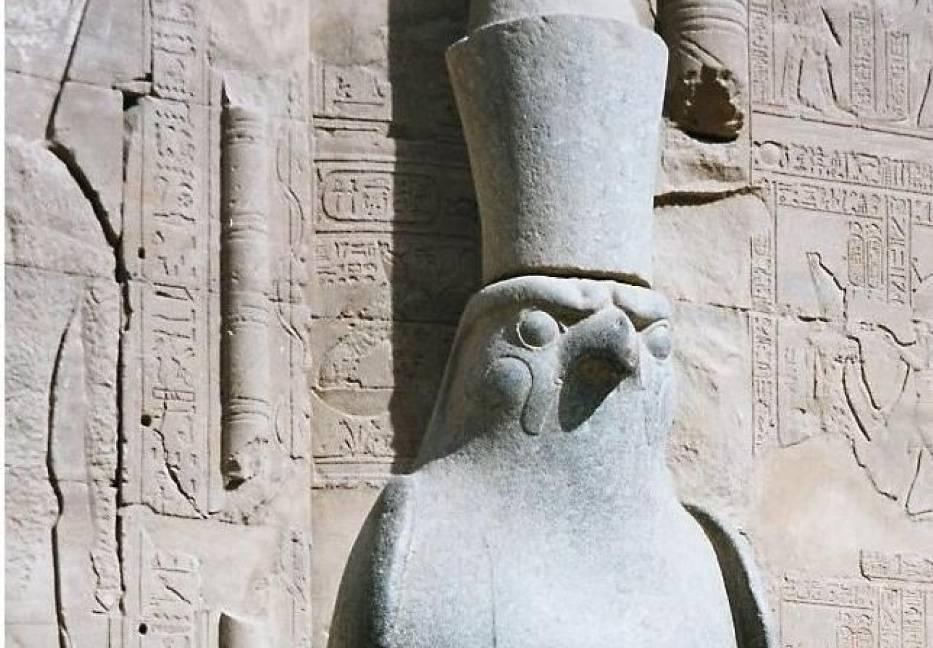 Statue of Horus, Edfu Temple, Egypt, Dec