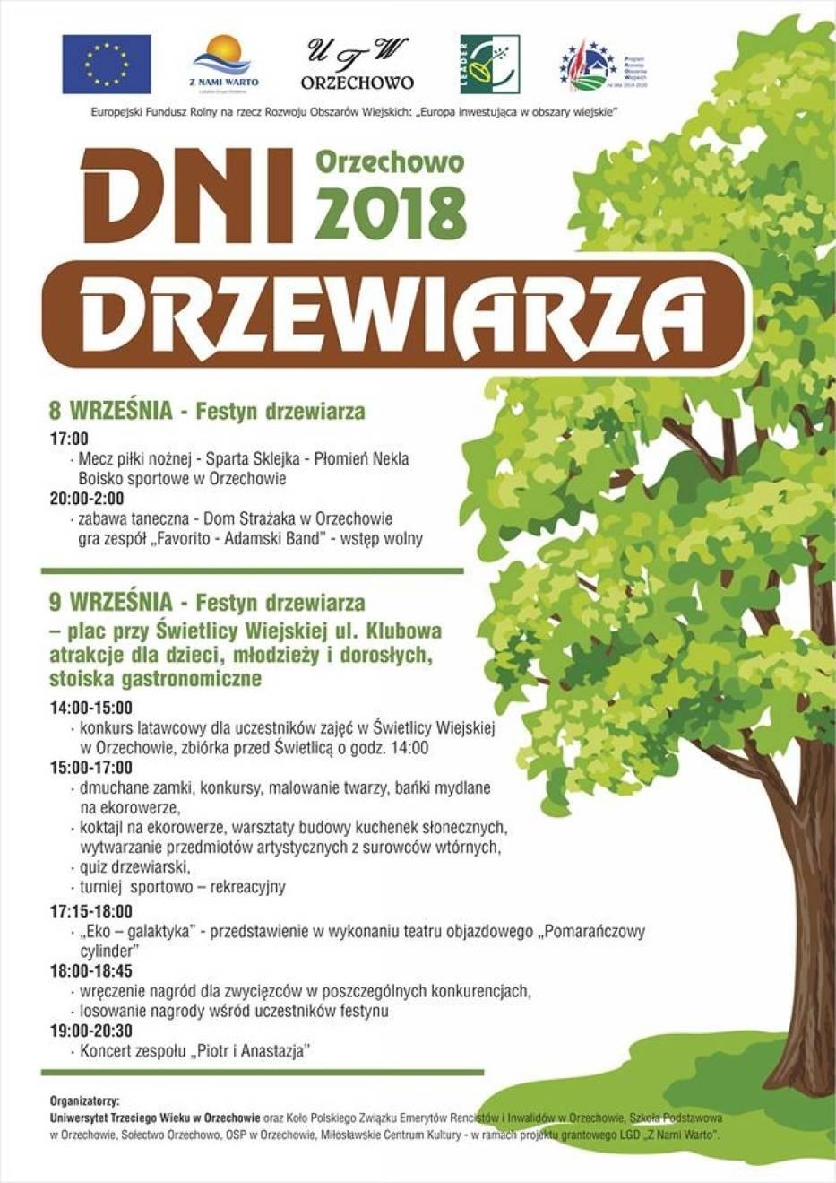 Gmina Miłosław: Orzechowo zaprasza na Dni Drzewiarza
