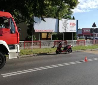 Zgorzelec: Kolizja na skrzyżowaniu. Potrącił samochodem motorowerzystę