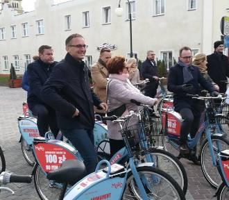 Wystartował system miejskich rowerów Mevo! 92 jednoślady będą dostępne w Pruszczu [ZDJĘCIA,
