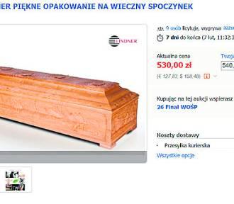 Na aukcji na rzecz WOŚP można wylicytować... trumnę