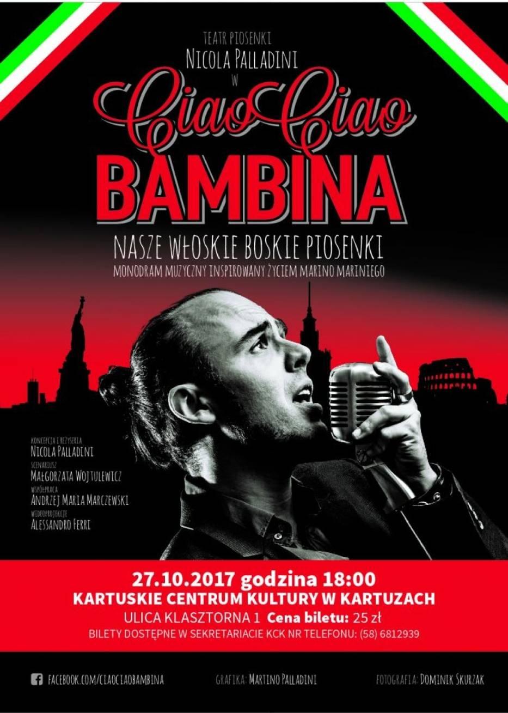 Ciao ciao Bambina w Kartuzach 27.10.2017
