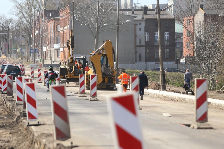 Trwa remont ulicy 3 Maja w Chorzowie