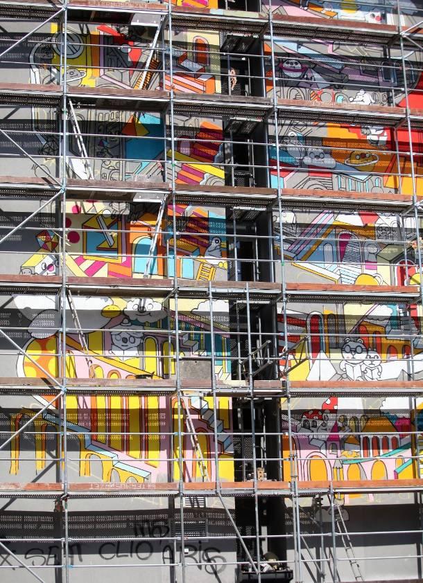 Nowy mural na matejki w odzi zdobi akademik zdj cia for Mural na tamie w solinie
