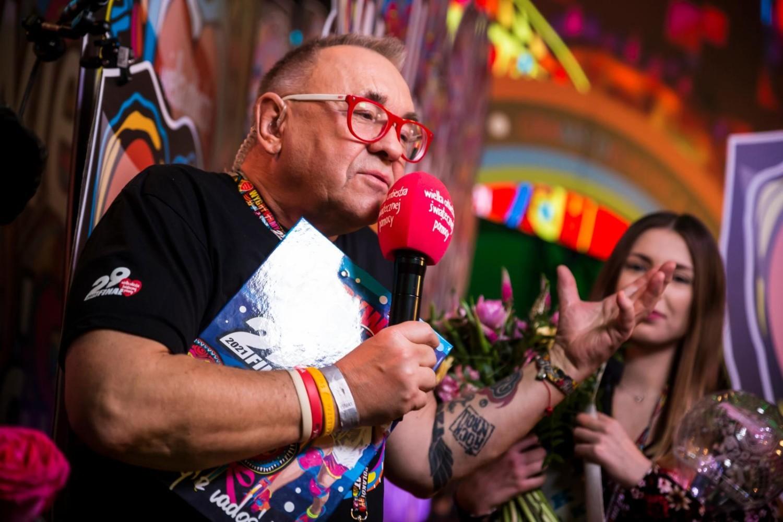 Jerzy Owsiak podczas 29. Finału WOŚP