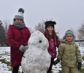 Śnieg cieszy dzieci. Jeszcze w tym roku uda się pójść na sanki i ulepić bałwany