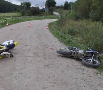 Zderzenia czołowe dwóch motocykli w gminie Przywidz. Trzy osoby ranne
