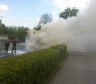 Autobus spłonął w centrum Krakowa [KRÓTKO]