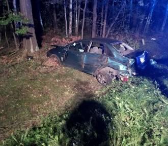 Pijany kierowca dachował pod Ozimkiem [ZDJĘCIA]