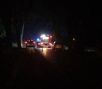 Po wypadku kierowca spłonął w samochodzie