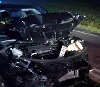Wypadek na DW 160, na trasie Zieleniewo - Bierzwnik