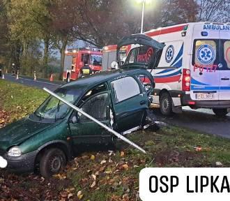 Zderzenie dwóch aut osobowych